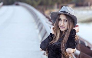 look, model, hair, hat