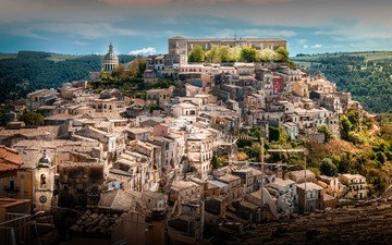 the city, italy, sicily, ragusa
