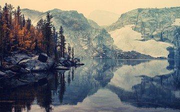 небо, озеро, река, горы, природа, отражение, пейзаж, фьерд