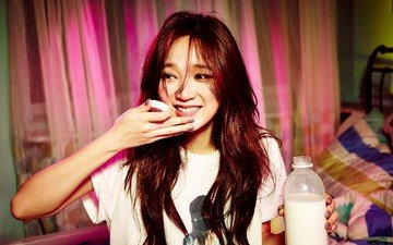 smile, face, milk, asian, girl, kpop, meng jia
