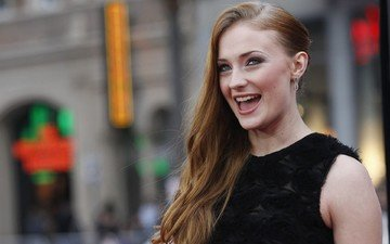 girl, smile, actress, long hair, redhead, sophie turner, ophie turner