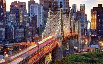 bridge, usa, new york, manhattan, queensboro bridge, east river
