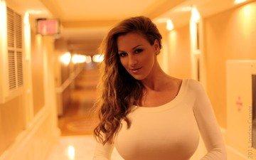 девушка, модель, грудь, актриса, джордан карвер