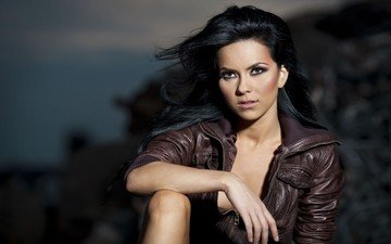 brunette, singer, inna, pop dance