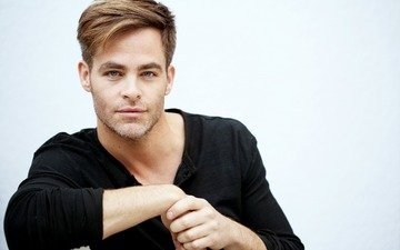 look, actor, male, chris pine