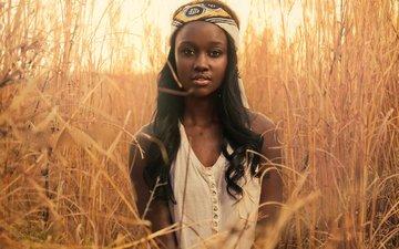 растения, девушка, взгляд, африка, модель, bianca koyabe
