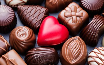сердечко, конфеты, шоколад, сладкое, десерт, ассорти, шоколадные конфеты, anna pustynnikova