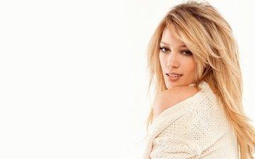 blonde, model, actress, singer, hilary duff