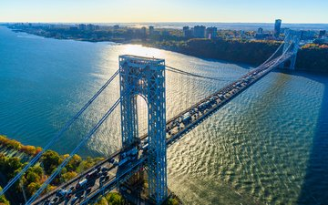 bridge, the city, usa, new york, george washington bridge, dszc