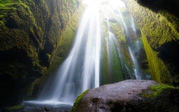 река, скалы, природа, водопад, damien borel