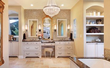 интерьер, дизайн, люстра, ванная комната