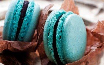 food, sweets, blue, cookies, cakes, dessert, macaroon