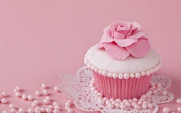 десерт, глазурь, кекс, капкейк