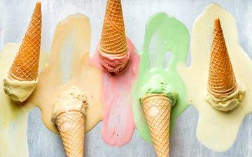ice cream, horn, dessert, wafer