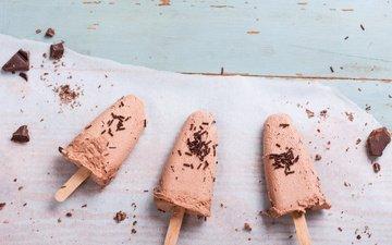 ice cream, chocolate