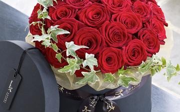 flowers, roses, bouquet, red roses