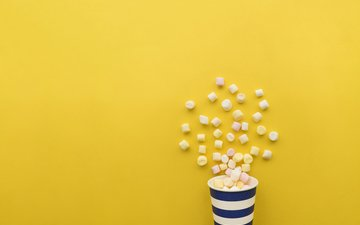 background, sweet, marshmallows, cup