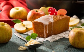 apples, cakes, cupcake