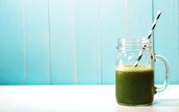 drink, fruit, mug, tube, juice, fresh, green, organic