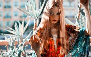 девушка, взгляд, модель, волосы, лицо, skye stracke, скай страке, jannis tsipoulanis