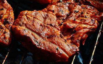 мясо, стейк, мангал, гриль, барбекю
