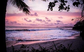 clouds, sunset, sea, beach, nicaragua, nicaraguense