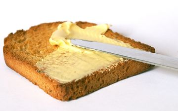 еда, масло, хлеб, завтрак