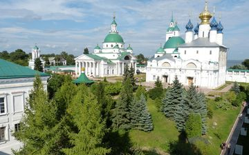 the city, russia, church, the building, the dome, religion, rostov