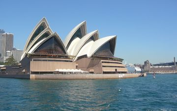 sea, the city, architecture, the building, sydney, australia, opera house