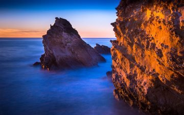 вода, скалы, берег, море, океан, утес