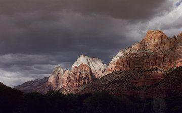 mountains, rocks, nature, landscape