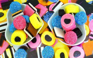 конфеты, сладости, разноцветный, мармелад