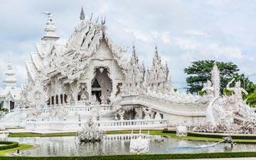 temple, asia, architecture, the building, palace, thailand, religion, the white temple, wat rong khon