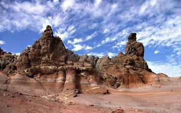 nature, landscape, sand, desert, mountain, stone, valley, mountain relief