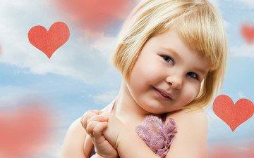 настроение, дети, девочка, сердце, ребенок, сердечки