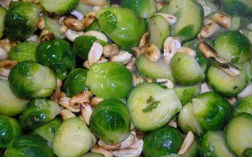 орехи, овощи, арахис, капуста, брюссельская капуста