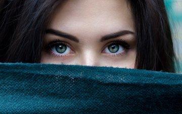 глаза, девушка, модель, волосы, лицо, ресницы