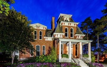 the city, house, usa, architecture, the building, mansion