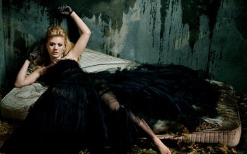 girl, actress, singer, black dress, kelly clarkson
