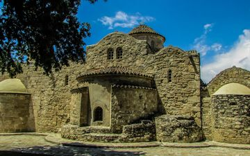 ruins, church, architecture, the building, monument, the monastery, chapel, religion, cyprus, christianity