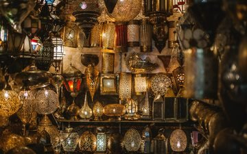 night, market, the city, lamp, lamps, morocco, bazaar