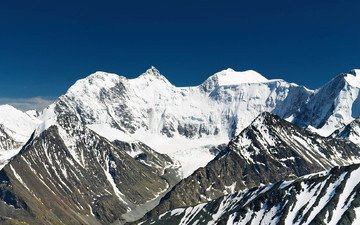 mountains, snow, nature, tops, height