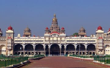 architecture, the building, palace, area, india, karnataka, mysore