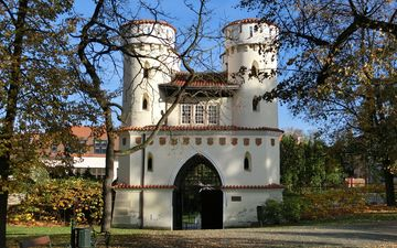 nature, landscape, park, castle, czech republic, entrance, vlasim