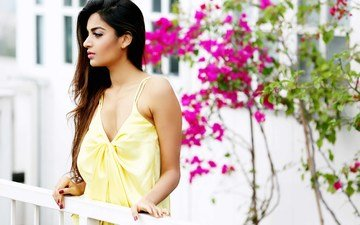 model, profile, hair, face, actress, makeup, indian, nidhhi agerwal, nidhi agarwal