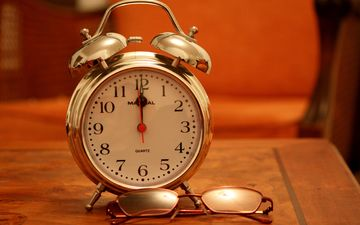 glasses, watch, time, arrows, alarm clock