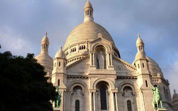 париж, церковь, архитектура, здание, монастырь, достопримечательность, фасад, купола, кафедральный собор, базилика