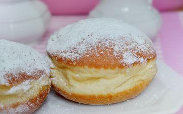 пончики, выпечка, сахарная пудра