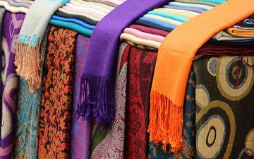 разноцветные, ткань, платок, шарф, шарфы, платки