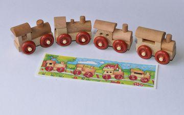 поезд, игрушки, паровозик, деревянный